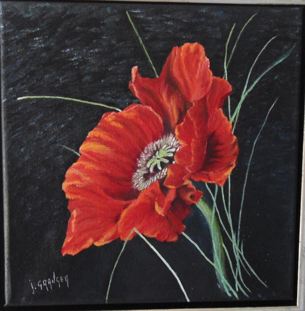 Fleurs for Tableau de coquelicot en peinture